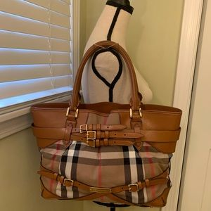 BURBERRY BRIDLE HOUSECHECK LYNHER LANDSCAPE TOTE